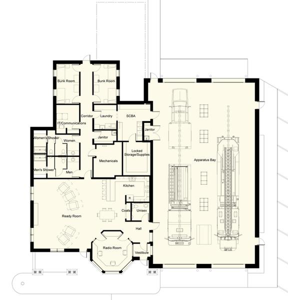 Photo Volunteer Fire Station Floor Plans Images The
