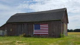 The same barn on July 1, 2016