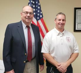 Chairman Stephen Wright and Chief Fedele