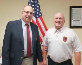 Chairman Stephen Wright and First Assistant Chief Boutillier