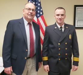 Chairman Stephen Wright and Second Assistant Chief Vorndran