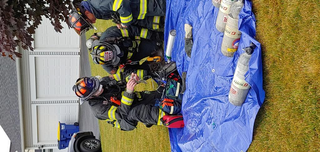 Webster Firefighters Treating Pet